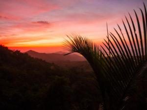 Gruppenreisen für Alleinreisende & Erlebnisreisen I Kolumbien Ablauf Tag 19 traumhafter Sonnenuntergang in Minca