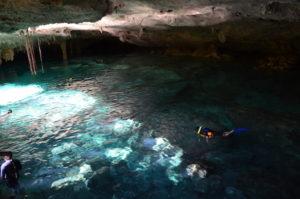 Gruppenreisen für Alleinreisende I Tagesausflug und Schwimmen in einer Cenote in Tulum