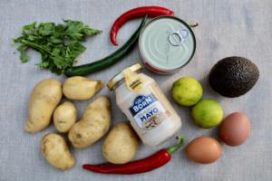 Zutaten - Rezept für Causa Rellena aus Peru (mit Thunfisch) | QUERIDO MUNDO