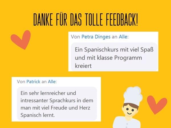 Feedback: Spanisch Kurs online in der Gruppe | QUERIDO MUNDO