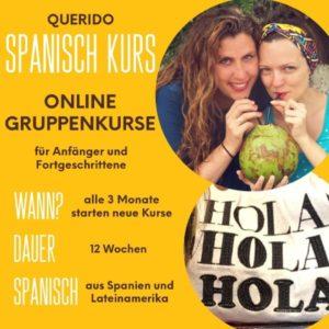 Ankündigung: Spanisch Kurs online in der Gruppe | QUERIDO MUNDO